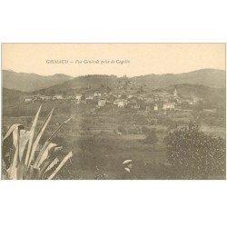 carte postale ancienne 83 GRIMAUD. Vue du Village