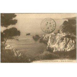 carte postale ancienne 83 HYERES LES PALMIERS. Etude de Rochers 1924
