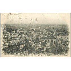 carte postale ancienne 83 HYERES LES PALMIERS. Ville et Rade 1903