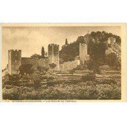 carte postale ancienne 83 HYERES. Les Ruines du Château