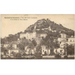 carte postale ancienne 83 HYERES. L'Hôtel Continental Colline du Vieux Château 1926