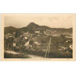 carte postale ancienne 83 HYERES. Route de l'Hermitage