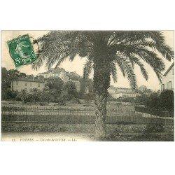 carte postale ancienne 83 HYERES. Un coin de la Ville 1908
