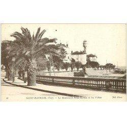 carte postale ancienne 83 SAINT-RAPHAEL. Boulevard Félix Martin et Villas