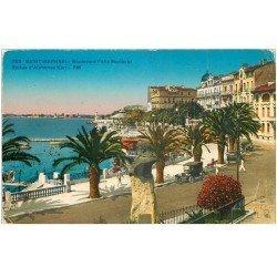 carte postale ancienne 83 SAINT-RAPHAEL. Boulevard Félix Statue Karr et Tacots