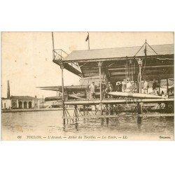 carte postale ancienne 83 TOULON. Arsenal Atelier des Torpilles avec les Essais 1921