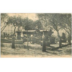 carte postale ancienne 83 TOULON. Arsenal Maritime 1903 Canon Pièce Chinoise