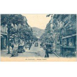 carte postale ancienne 83 TOULON. Avenue Colbert nombreuses voitures anciennes Taxi 1922