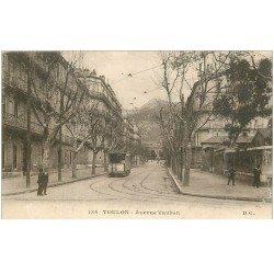 carte postale ancienne 83 TOULON. Avenue Vauban Tramway