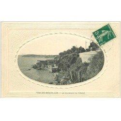 carte postale ancienne 83 TOULON. Boulevard du Littoral 1912 encadrement gaufré