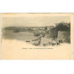 carte postale ancienne 83 TOULON. Boulevard du Littoral animé vers 1900