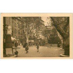 carte postale ancienne 83 TOULON. Camion ancien Place Puget