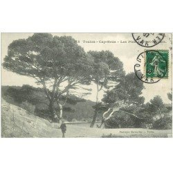 carte postale ancienne 83 TOULON. Cap Brun les Pins de Port Méjean 1907