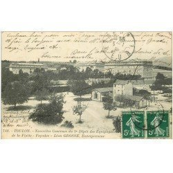 carte postale ancienne 83 TOULON. Caserne du 5 Dépôt d'Equipage de la Flotte 1909
