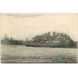 carte postale ancienne 83 TOULON. Catastrophe aspect du Navire La Liberté après l'Explosion de 1911