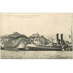 carte postale ancienne 83 TOULON. Catastrophe du Navire La Liberté après l'Explosion de 1911