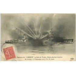 carte postale ancienne 83 TOULON. Catastrophe du Navire La Liberté l'Explosion de 1911