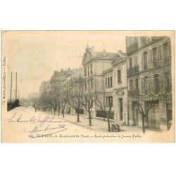 carte postale ancienne 83 TOULON. Ecole primaire Jeunes Filles Boulevard de Tessé 1903