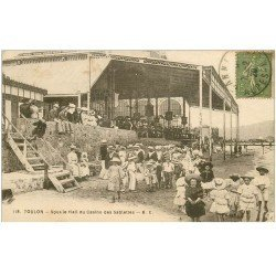carte postale ancienne 83 TOULON. Hall du Casino des Sablettes 1920