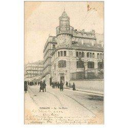 carte postale ancienne 83 TOULON. Hôtel des Postes et Télégraphes 1902