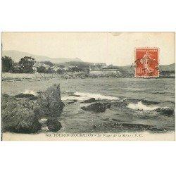 carte postale ancienne 83 TOULON. La Plage de la Mître 1914