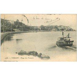 carte postale ancienne 83 TOULON. La Plage des Tamaris 1903