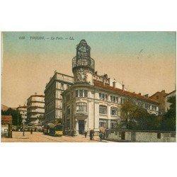carte postale ancienne 83 TOULON. La Poste 1921