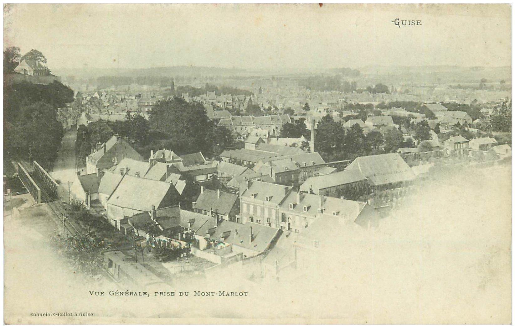 carte postale ancienne 02 GUISE. Vue prise du Mont-Marlot
