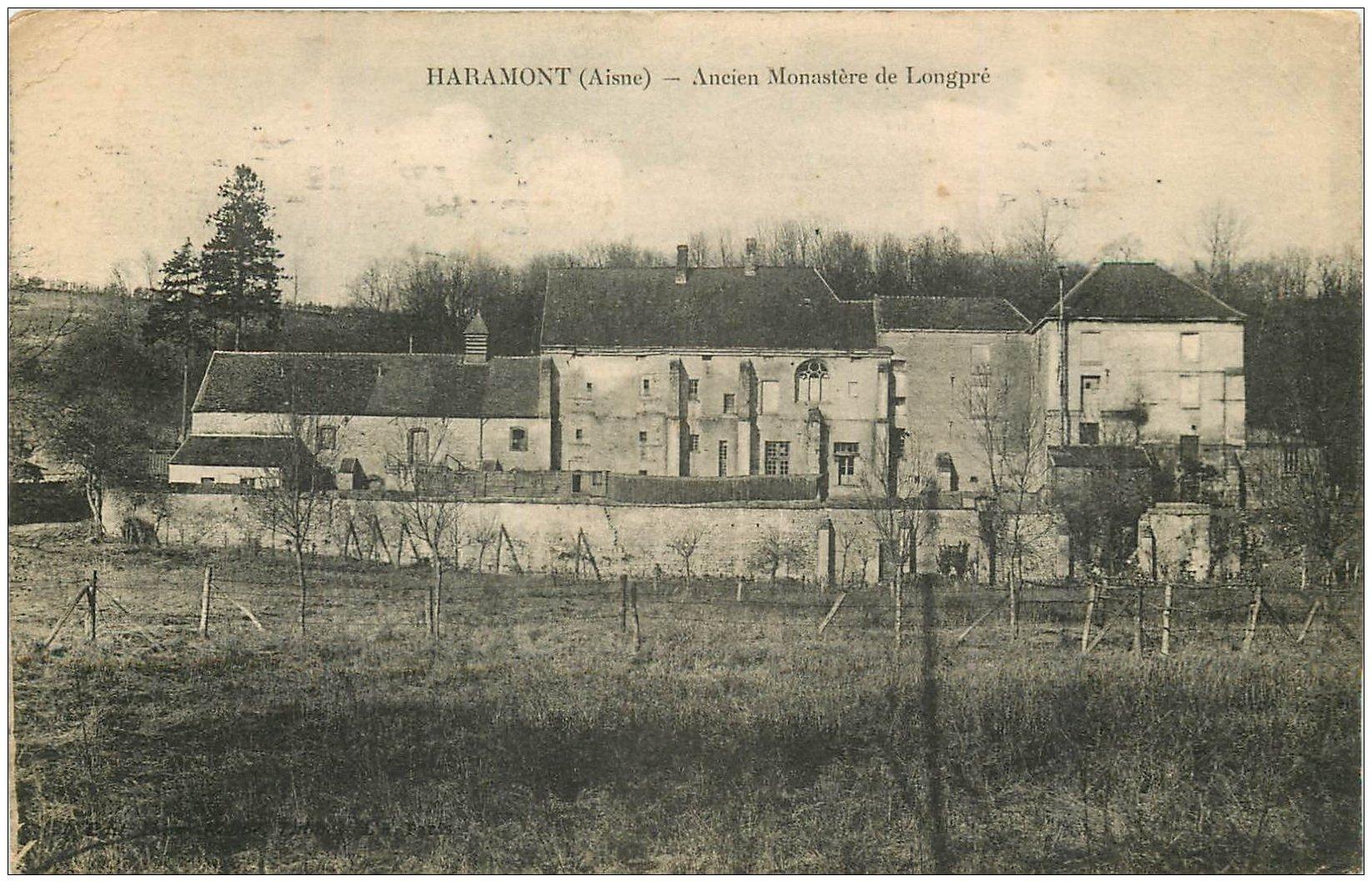 carte postale ancienne 02 HARAMONT. Monastère de Longpré 1910