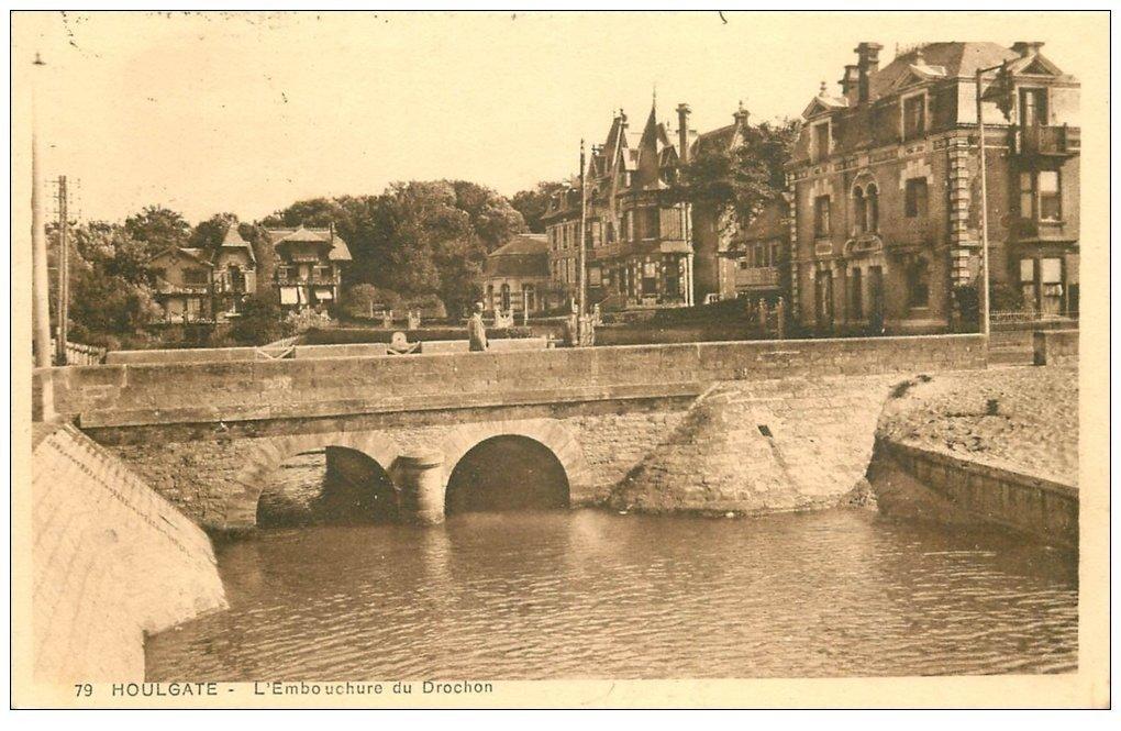 carte postale ancienne 14 HOULGATE. BEUZEVAL. Embouchure du Dronchon 1929