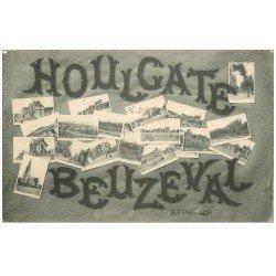carte postale ancienne 14 HOULGATE. BEUZEVAL. Multivues 1915