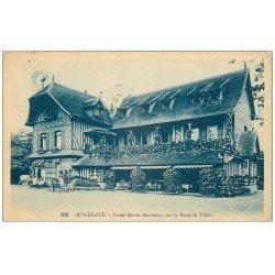 carte postale ancienne 14 HOULGATE. Ferme Marie Antoinette Route de Villers 1925. Timbre absent