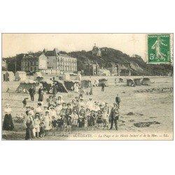 carte postale ancienne 14 HOULGATE. Hôtel Imbert et Plage 1913