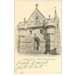 carte postale ancienne 86 ADRIERS. Eglise fortifiée 1902