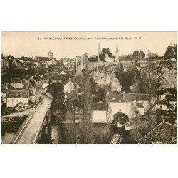 carte postale ancienne 86 ANGLES SUR L'ANGLIN. Vue générale et Pont