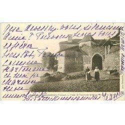 carte postale ancienne 86 AVAILLES LIMOUZINE LIMOUSINES. Porte ancienne Ville 1903