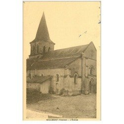 carte postale ancienne 86 BEAUMONT. Eglise