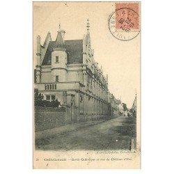 carte postale ancienne 86 CHATELLERAULT. Cercle Catholique Rue du Château Eau 1906