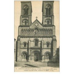 carte postale ancienne 86 CHATELLERAULT. Eglise Saint Jacques 1918