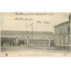 carte postale ancienne 86 CHATELLERAULT. Entrée de la Manufacture 1903