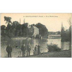 carte postale ancienne 86 CHATELLERAULT. Ile et Moulin Joany