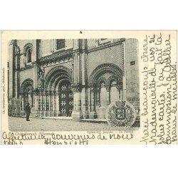 carte postale ancienne 86 CHATELLERAULT. Portail Eglise Saint Jacques 1902