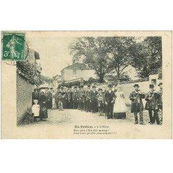carte postale ancienne 86 COUHE VERAC. A la Noce en Poitou. Voloneux 1908