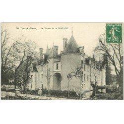 carte postale ancienne 86 DANGE SAINT ROMAIN. Château de la Fontaine vers 1908