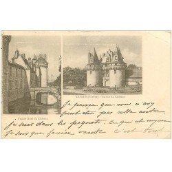 carte postale ancienne 86 DISSAIS. Entrée et façade du Château. Pour Napoli en 1902