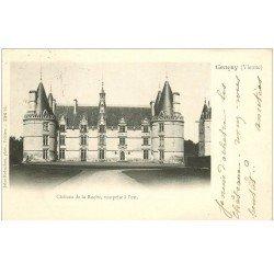 carte postale ancienne 86 GENCAY. Château de la Roche 1902