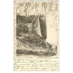 carte postale ancienne 86 GENCAY. Ruines du Château 1901