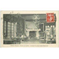carte postale ancienne 86 ITEUL. Moulin de Lizelier Atelier du peintre André Marchand 1908