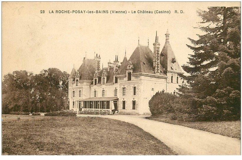 carte postale ancienne 86 LA ROCHE POSAY LES BAINS. Château Casino 1931