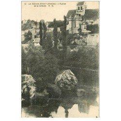 carte postale ancienne 86 LA ROCHE POSAY. Eglise et Creuse 1931